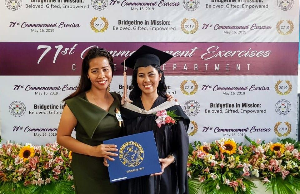 Special congratulations to Jessica, one of our scholars who just graduated in May!!